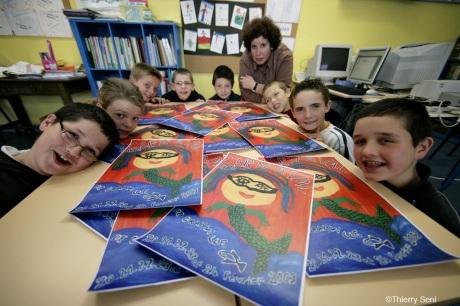 Les élèves... heureux !!!